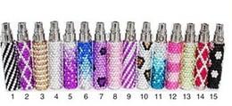 Wholesale E Cigarette Battery Colorful Diamond - diamond ego battery Colorful e Cigarette battery Electronic Cigarette diamond battery 650 900 1100mah with high quality
