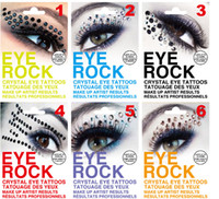 Wholesale Eyes Stickers Crystal - Christmas Festival Eye Rock Eyeshadow Sticker Eyeliner Tattoo Art Party Crystal Eye Shadow Stickers Rhinestone Temporary Tattoos M1647