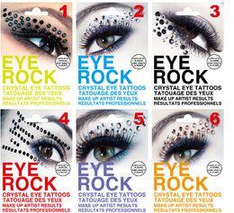 Wholesale Eyeshadow Crystal - Christmas Festival Eye Rock Eyeshadow Sticker Eyeliner Tattoo Art Party Crystal Eye Shadow Stickers Rhinestone Temporary Tattoos M1647
