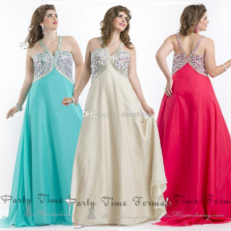 Wholesale 2014 Sexy Plus Size Prom Dresses A Line Backless ...