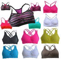 Wholesale Cross Strap Tights - pro-fit cross spaghetti straps sports bra fitness yoga stretch tight quick-drying underwear bra