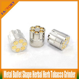 Wholesale Cigar Factory - Newly Metal Bullet Shape Herbal Herb Cigar Tobacco Grinder Smoke Grinders Magnetic E Cigarette Smoking Pipe With Factory Price