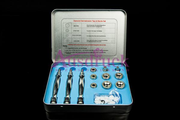 Eu impuesto libre de diamante máquina de dermoabrasión Vacío de pulverización de alta frecuencia terapia de ozono limpiador de la piel facial peeling dispositivo de belleza
