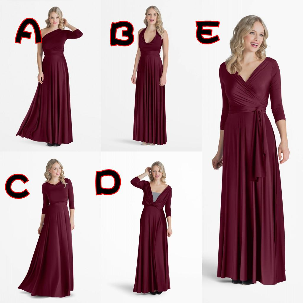 Best selling ankle length chiffon bridesmaid dresses long sleeve v best selling ankle length chiffon bridesmaid dresses long sleeve v neck elegant sleeveless one shoulder convertible dress 5 styles long lace bridesmaid ombrellifo Image collections