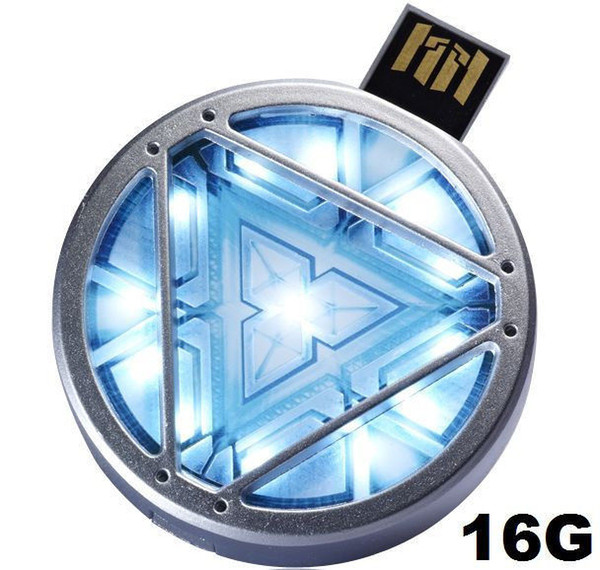 real 2gb 4gb 8gb 16gb 32gb The Avengers IRON MAN 3 ARC REACTOR with LED light usb flash drive pen dive memory stick free shipping