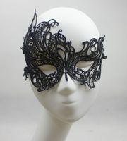 Wholesale Cheap Eye Lace - 2015 Lace Phoenix Party Mask Sexy Fashion Hollow Out Black Masquerade Mask Halloween Christmas Wedding Eye Blinder Cool Eye Patch 1PC Cheap