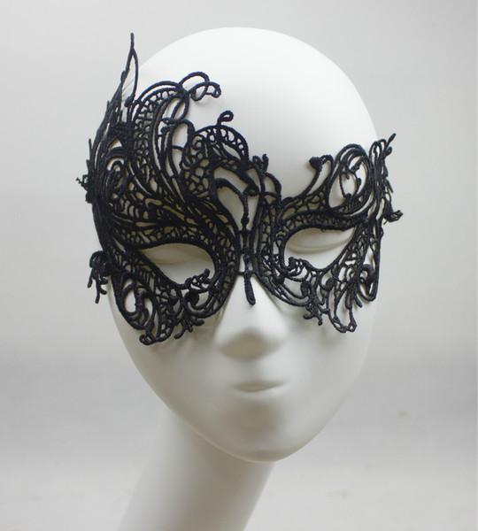 2015 Pizzo Phoenix Maschera Party Sexy Moda Scava Fuori Nero Masquerade Maschera Di Halloween Natale Wedding Eye Blinder Cool Eye Patch 1 PZ A Buon Mercato
