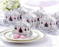 Wholesale Wedding Fairytale - 100pcs Fairytale Princess Carriage Wedding Party Gift Favor Boxes Sweet Bags