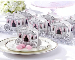 Wholesale Princess Favor Bags Boxes - 100pcs Fairytale Princess Carriage Wedding Party Gift Favor Boxes Sweet Bags