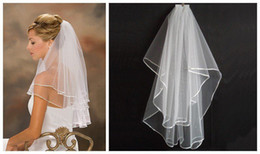 Wholesale Cheapest White Short Dress - Cheapest 2014 Real Sample In Stock White Ivory Two Layers Short Wedding Veils With Comb For Wedding Dresses Bridal Gowns Bridal Accessories