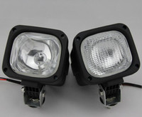 Wholesale Hid Work Lights Tractors - HID Xenon 55W HID xenon Work Light Driving Light Spot Flood Light Offroad Lamp wide Flood Beam Waterproof trailer tractor Jeep Bulbs