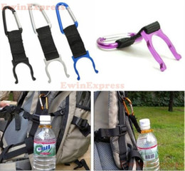 Wholesale Free Camping Equipment - 100pcs lot Outdoor Camping Hiking Traveling Water Bottle clip Carabiner Holder with Buckle Hook survival tools equipment