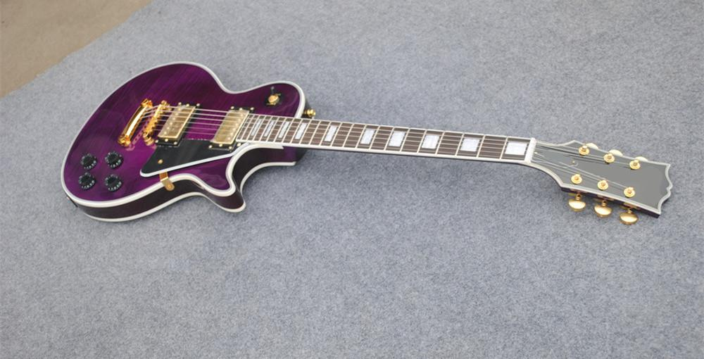 2015 new guitar factory chibson custom paul violet finish electric guitar chibson les. Black Bedroom Furniture Sets. Home Design Ideas
