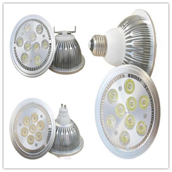 Dimmable AR111/QR111/ES111 Led lights High Power 14W 18W G53 GU10 E27 Led spotlights 60 angle 110-240V warm/pure/cool white energy saving