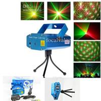 mini luces móviles al por mayor-Proyectores de luces láser de 150MW Mini Stage Stage Starry Sky LED de color verde rojo RG para Music Disco DJ Party Show de luces de Navidad Proyector con trípode