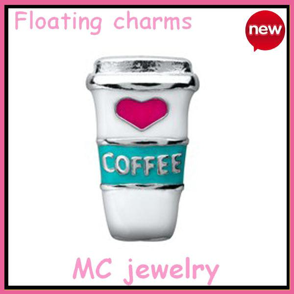 origami owl free shipping Hand-painted enamel coffee charms