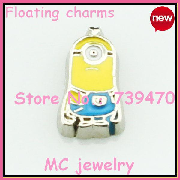 free shipping floating charms for lockets little yello man charm...