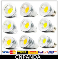 Wholesale COB Led W W W Bulb Lights Dimmable GU10 E27 E14 MR16 Led Spot Light Warm Pure Cool White Lamp V CE RoHS