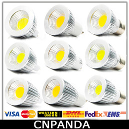 Wholesale Spot Led 12v 5w - COB Led 5W 7W 9W Bulb Lights Dimmable GU10 E27 E14 MR16 Led Spot Light Warm Pure Cool White Lamp 110-240V CE RoHS