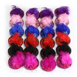 Wholesale Sequins Lace Top - 24Pcs Lot Women Squin Headwear Rose Top Cap Feather Fashion Lace Hair Hat Clip Mini Hair Cap Clip Stylish Fascinator Costume Accessory