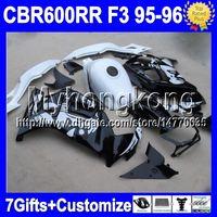 Wholesale Honda F3 96 - 100%NEW HOT+Tank For 95-96 HONDA CBR 600F3 95 96 NEW Black white CBR600 F3 CBR 600 F3 MY1825 Graffiti 1995 1996 CBR600F3 Fairing&7gifts