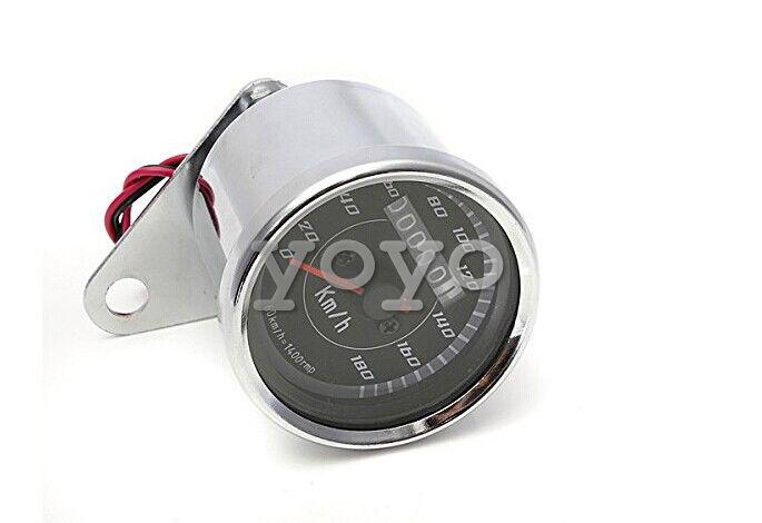 Top Brand Universal LED Motorcycle Tachometer+Odometer Speedometer Gauge