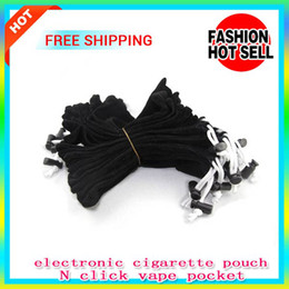 Wholesale Ego Pouch Bag - 100PCS E cigarette eGo ce4 Carrying Bag String small black Pouch Pocket cord Sling Rope Round Corner Case pouch pen bag click N vape pocket
