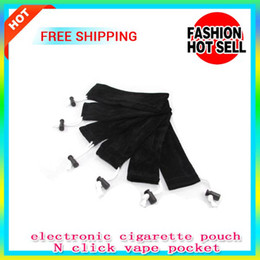 Wholesale Ego Pouch Bag - Electronic cigarette eGo Carrying Bag String pen Pouch Pocket Sling Rope Round Corner Case pouch click N vape black mini storage bag pocket