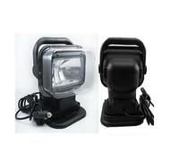 v 75 toptan satış-12 V 75 W HID Xenon Çalışma Işığı için 360 Dönen Işıldak Tekne Araba SUV lamba Kablosuz Uzaktan Kumanda Kamp Yürüyüş Balıkçılık Işık