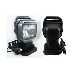 Wholesale work light kit - 12V 75W HID Xenon Work Light 360 Rotating Searchlight for Boat Car SUV lamp Wireless Remote Control Camping Hiking Fishing Light