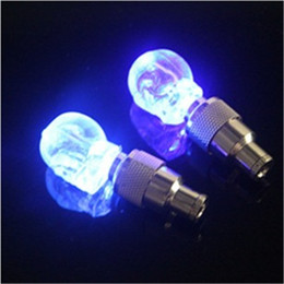 Wholesale Led Lights For Bicycles Wheels - Skull Bicycle Wheel Light LED Bike Lights Skull Valve Cap Light Wheel Tyre Lamp for Car Motorbike Bike Lights Gas Nozzle Valve Lights Skull