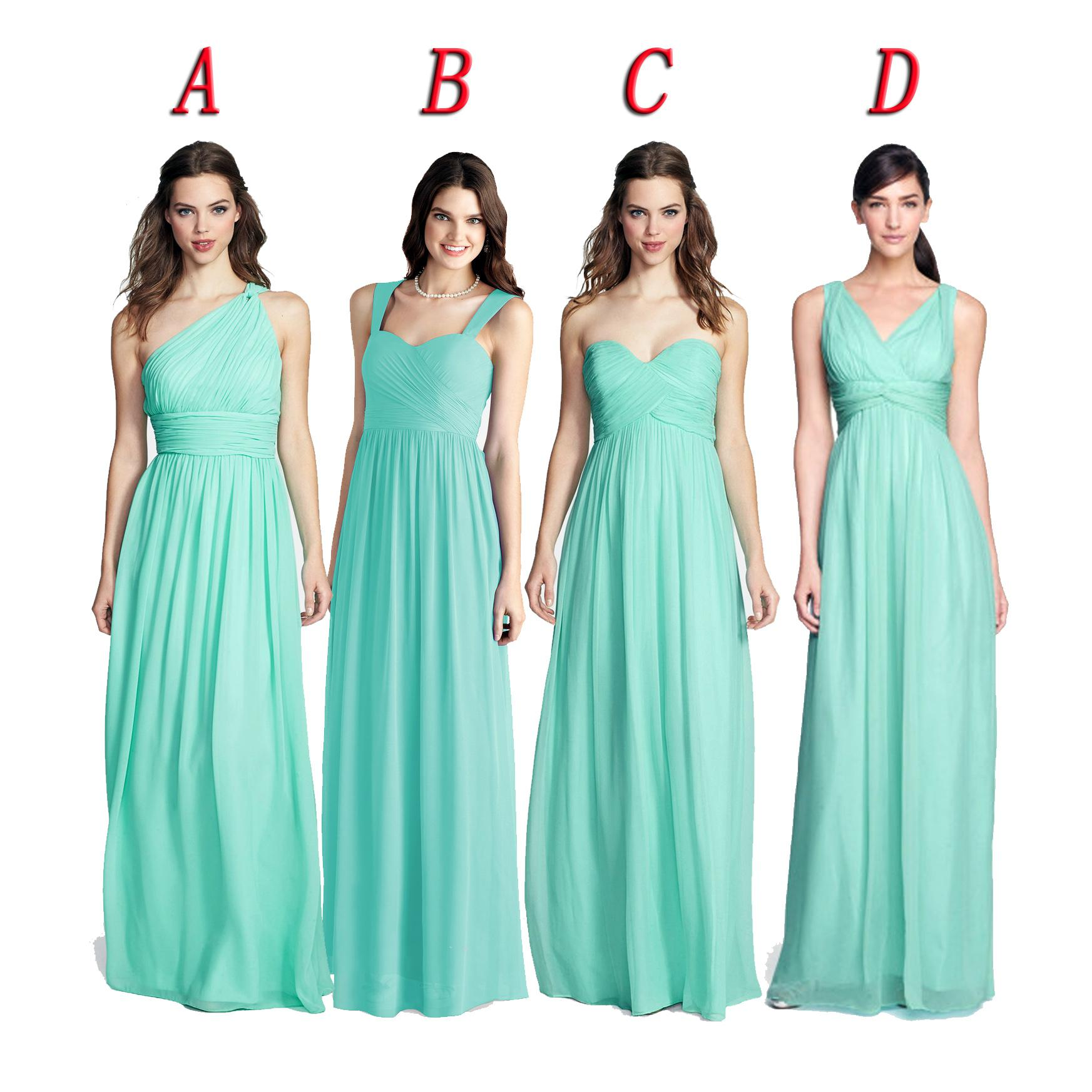 Spearmint color bridesmaid dresses