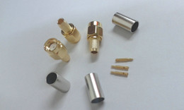 China gold-plated SMA male crimp connector to RG58 LMR195 suppliers