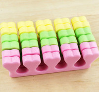 Wholesale Nail Separators - 50pcs (25 pairs) Pink silicone toe separator Soft foam Nail Tools Toe Finger Separator feet care braces & supports nails tools