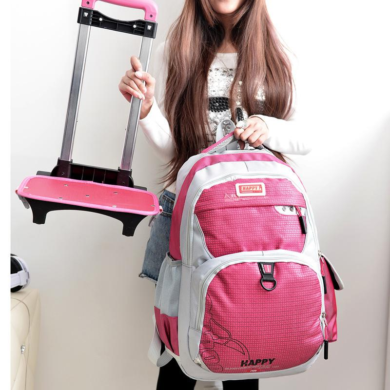 The New ChildrenS Trolley Bags Grade Middle School Students Boys And Girls 3 4 6 Removable Mickey Bag Gym For Men From