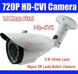 Wholesale Cctv Dahua - Wholesale-DAHUA Solution 720p Outdoor HD-CVI Camera 1.0 Mega Pixel With 2.8-12mm Lens 36pcs IR Leds HD CVI Camera, Waterproof CCTV Camera