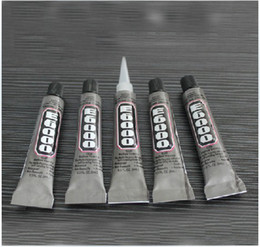 Wholesale Glue Industrial - Free Shipping 5pcs Lot E6000 9ml DIY Industrial Strength Universal Nail Glue Rhinestone Pasted Glue Sticker