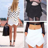 Summer 2014 New Arrival Sexy Asymmetrical Skirts Women Chiff...