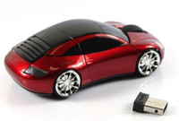 Wholesale- 2014 Hot Sale! Wireless Mouse With Car Shape 2. 4GH...