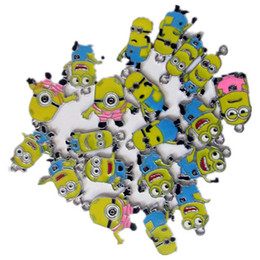 Wholesale Despicable Charms - Wholesale-Wholesale 100Pcs lots Despicable Me Minion Zinc Alloy Metal Enamel Minion Charms Pendants