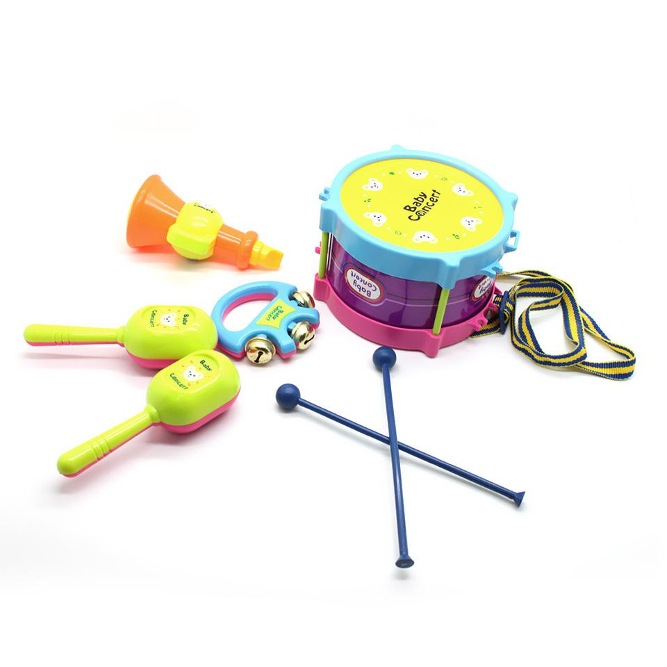 Toy Drum Musical Instruments : Roll drum musical toy instruments band kit for kids