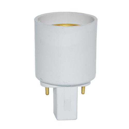 HOT G24 To E27 Socket Base LED Halogen CFL Light Bulb Lamp Adapter Converter Holder 10PCS/LOT lamps adapter