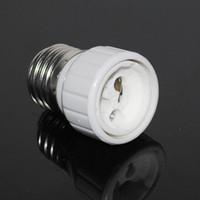 Wholesale Led Screw Light Lamp - HOT E27 TO GU10 lamp holder adapter converter White Bulb Base Converter LED Light Lamp Adapter Screw Socket 3PCS LOT