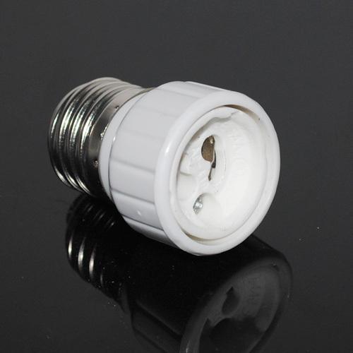 HOT E27 TO GU10 convertidor adaptador de lámpara Convertidor de base de bombilla blanca Lámpara de luz Adaptador Adaptador Socket Tornillo 3PCS / LOT