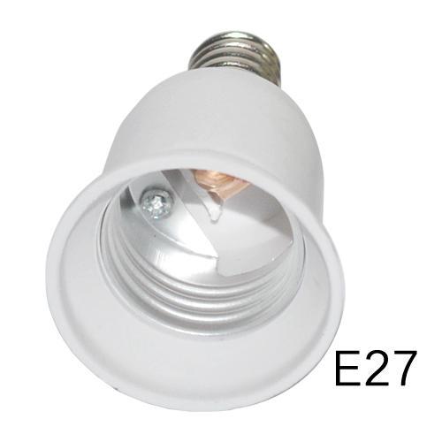 HOT E14 to E27 Convertidor de la lámpara Socket Bombilla de la lámpara Titular de la lámpara Adaptador Plug Plug Extender Luz Led USO 3 UNIDS / LOTE