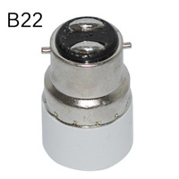 Wholesale E14 B22 Adapter - B22 to E14 lamp base Light Lamp Bulbs Adapter Converter Adapter lamp holder Free Shipping lamps adapter