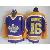 Wholesale Soft Jerseys - Kings #16 Dionne Throwback Hockey Jerseys Newest Purple Hockey Jerseys Brand Ice Hockey Soft Sport Jerseys All Teams Outdoor Uniform