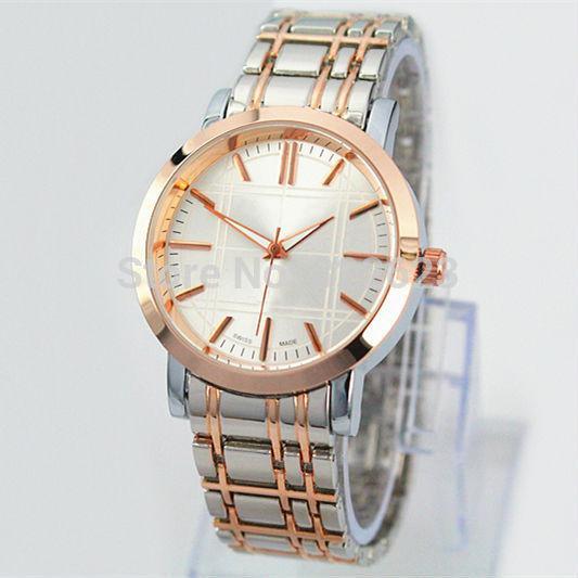 2017 Classic New Arrivals Moda de hombre de acero inoxidable Amantes del reloj de lujo moderno reloj de pulsera 2 colores envío gratis caja libre