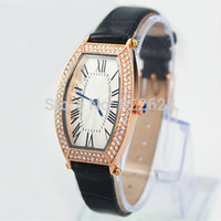 Wholesale Quartz Crystal Shape - Top Brand leather Watch Japan movement Brand Watches high quality women men watch quartz crystal watch