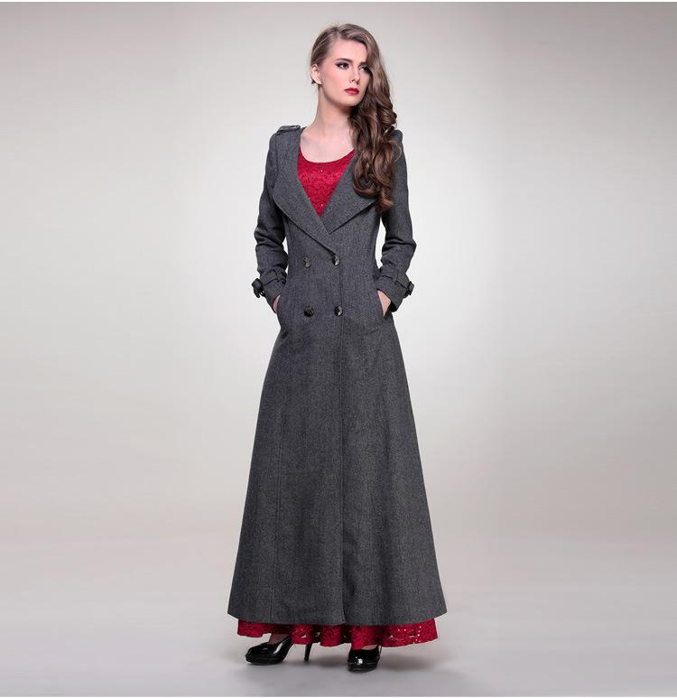 2017 2014 Winter Women'S Trench Coats Wool Double Breasted Plus ...